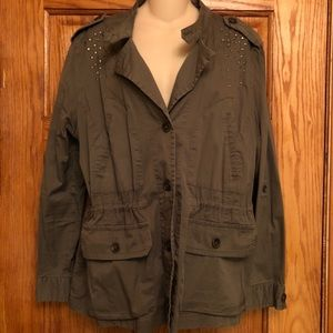 Style&Co Olive Green Utility Jacket